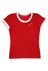 T-shirt met drukkers, rood