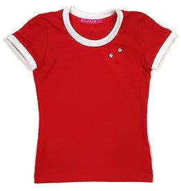 T-shirt met drukkers, rood, 86/92