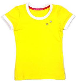 T-shirt met drukkers, geel