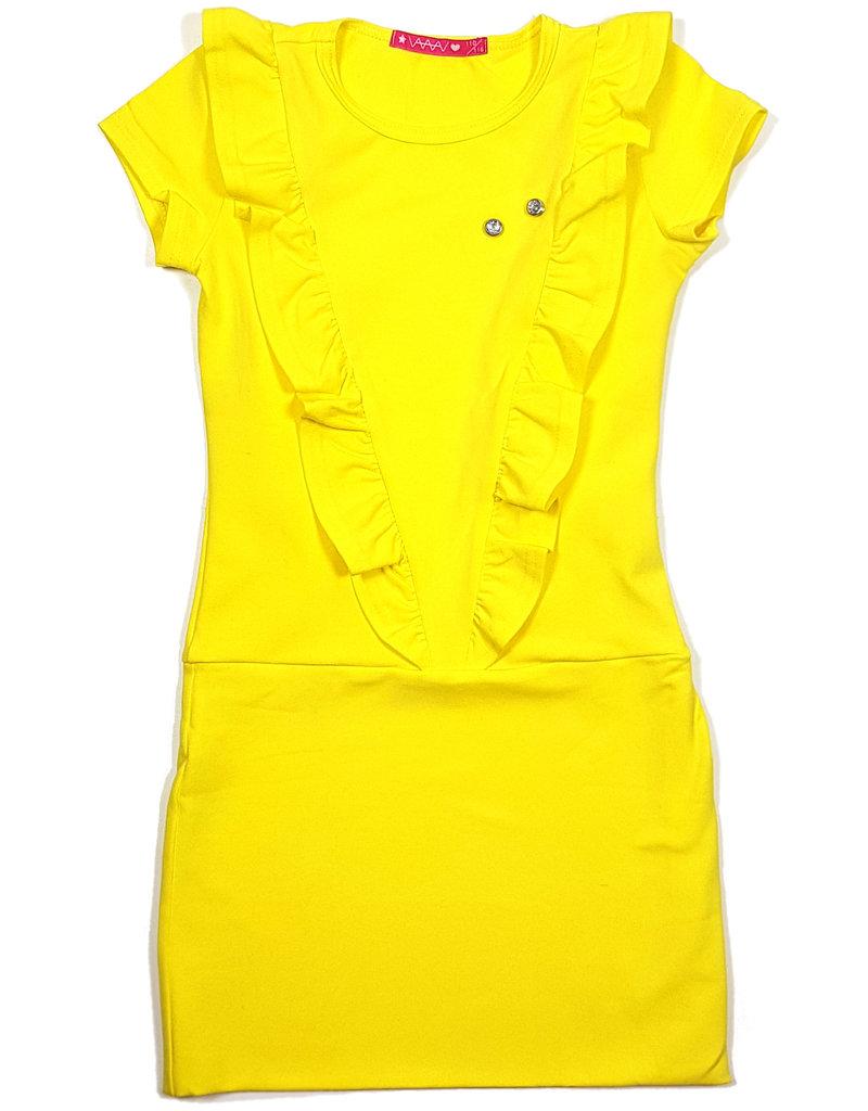 Jurk 'V' geel