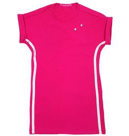 Jurk 'T-shirtdress' roze