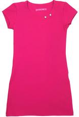 Jurk 'Basic met streep' roze
