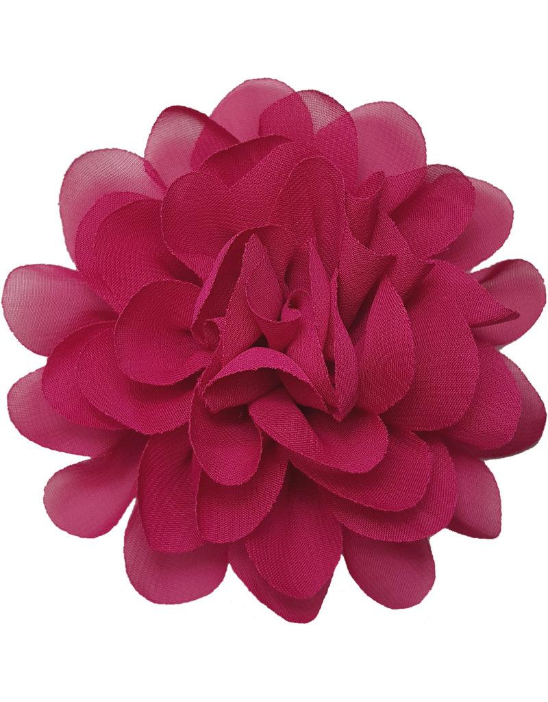 Voile bloem diep roze