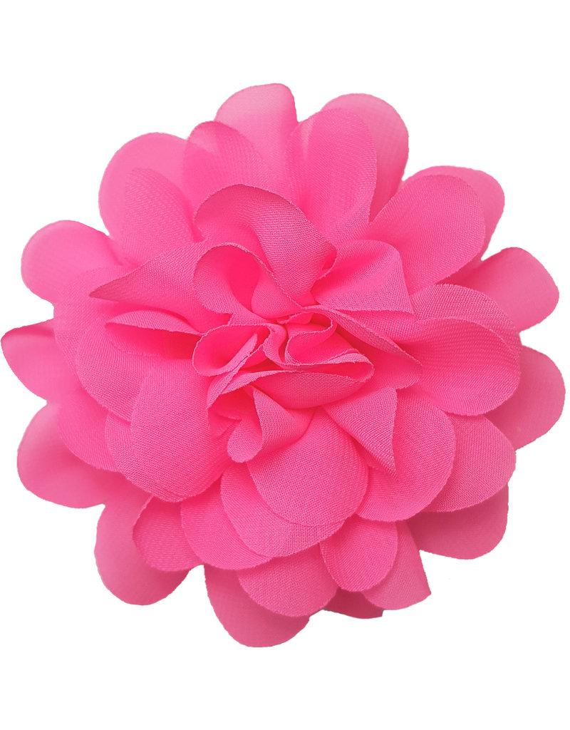 Voile bloem neon roze
