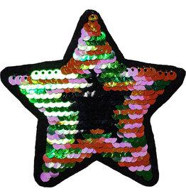 Patch ster multi-zwart