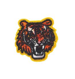 Patch tijgerkop geel