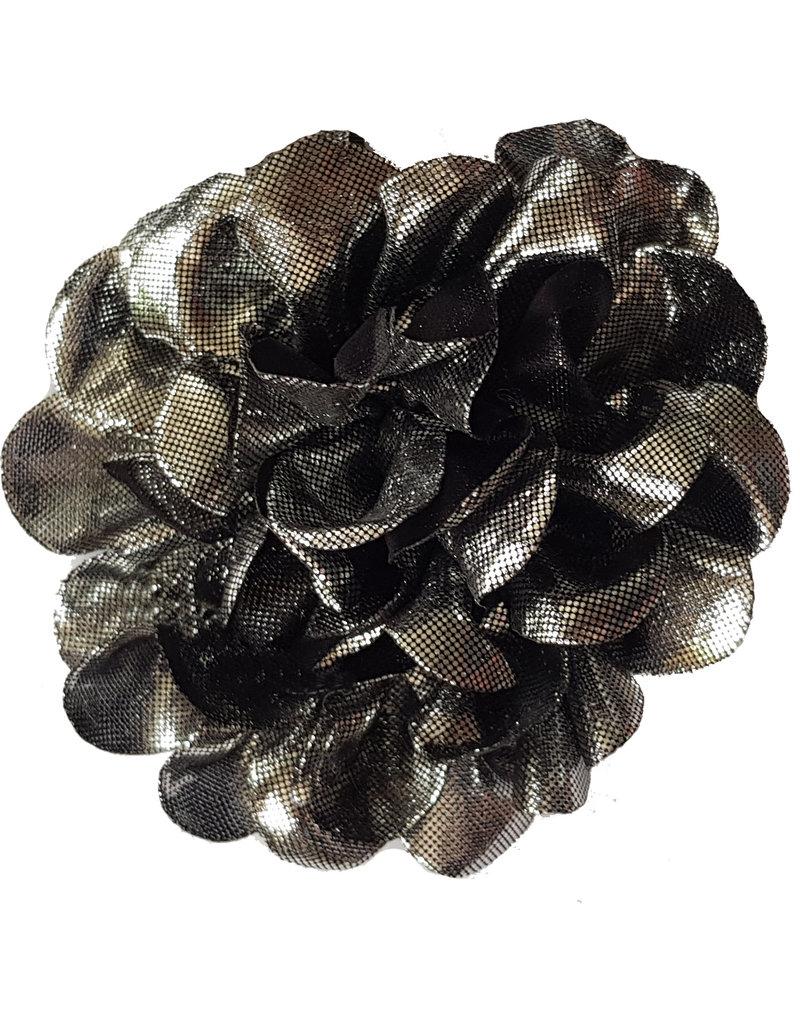 Bloem met glans zilver/zwart