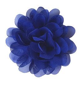 Voile bloem kobalt