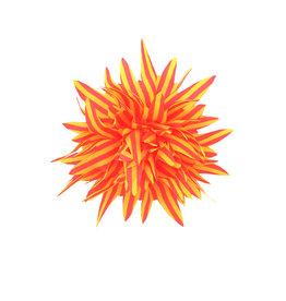 Haarclip neongeel neonroze