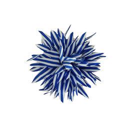 Haarclip kobalt wit