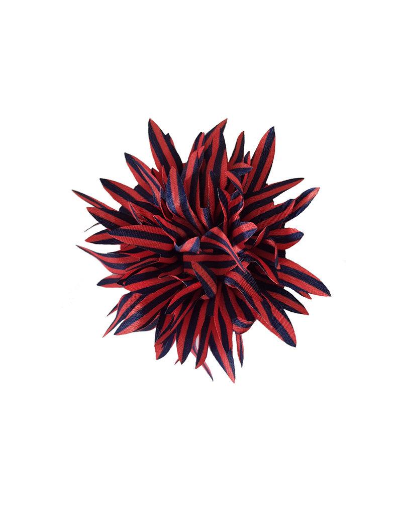 Haarclip rood navy