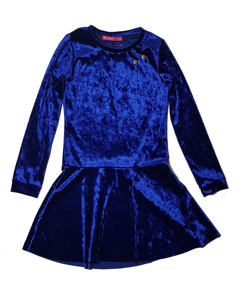 Jurk 'Velvet' Blauw