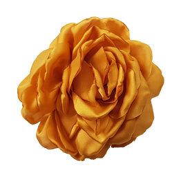 Zijden bloem goudgeel