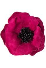 Suede bloem