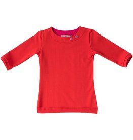 Shirt 'Basic' met driekwart mouw Rood
