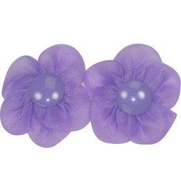 Drukkerapplicatie bloem met basisdr. (per paar) paars