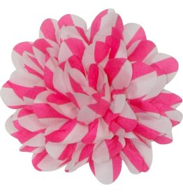 Gestreepte bloem roze-wit groot