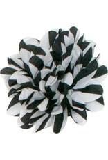Gestreepte bloem, zwart-wit