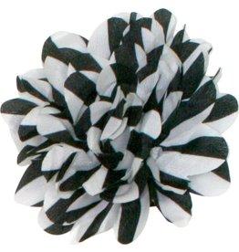 Drukkerapplicatie Gestreepte bloem, zwart/wit