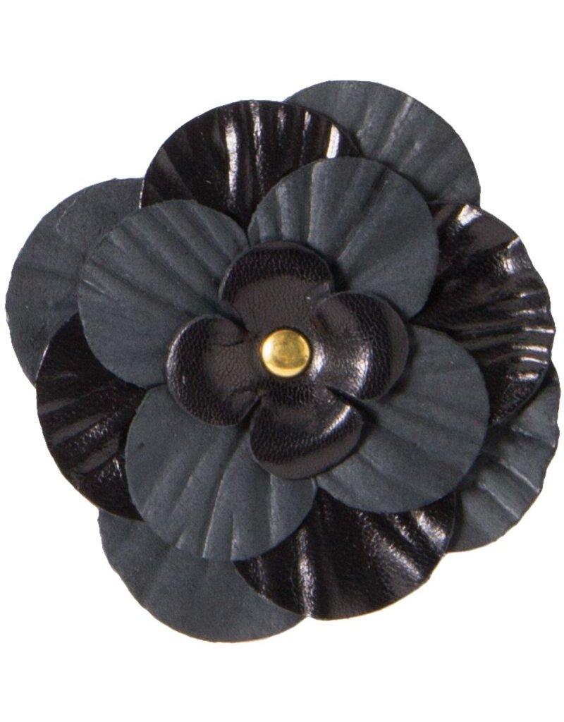Leren roos, zwart