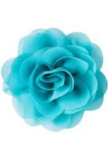 Drukkerapplicatie Voile roos, turquoise