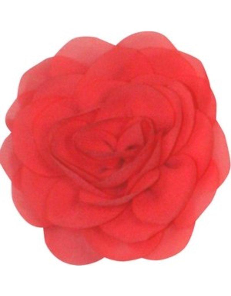 Drukkerapplicatie Voile roos, meloen