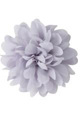Drukkerapplicatie Voile bloem, grijs