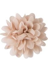 Drukkerapplicatie Voile bloem, beige