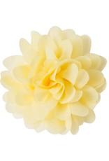 Drukkerapplicatie Voile bloem, lichtgeel