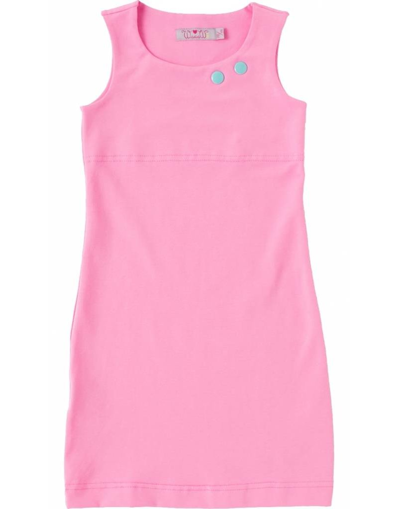 Jurk 'Basic' hemd Licht roze