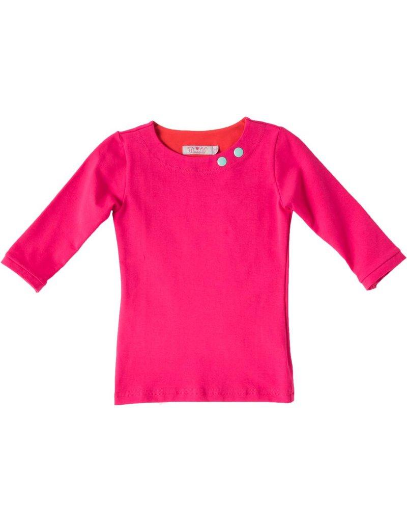 Shirt 'Basic' met driekwart mouw Fuchsia