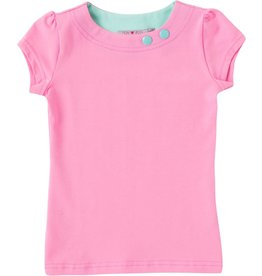 Shirt 'Basic' met korte mouw Licht roze