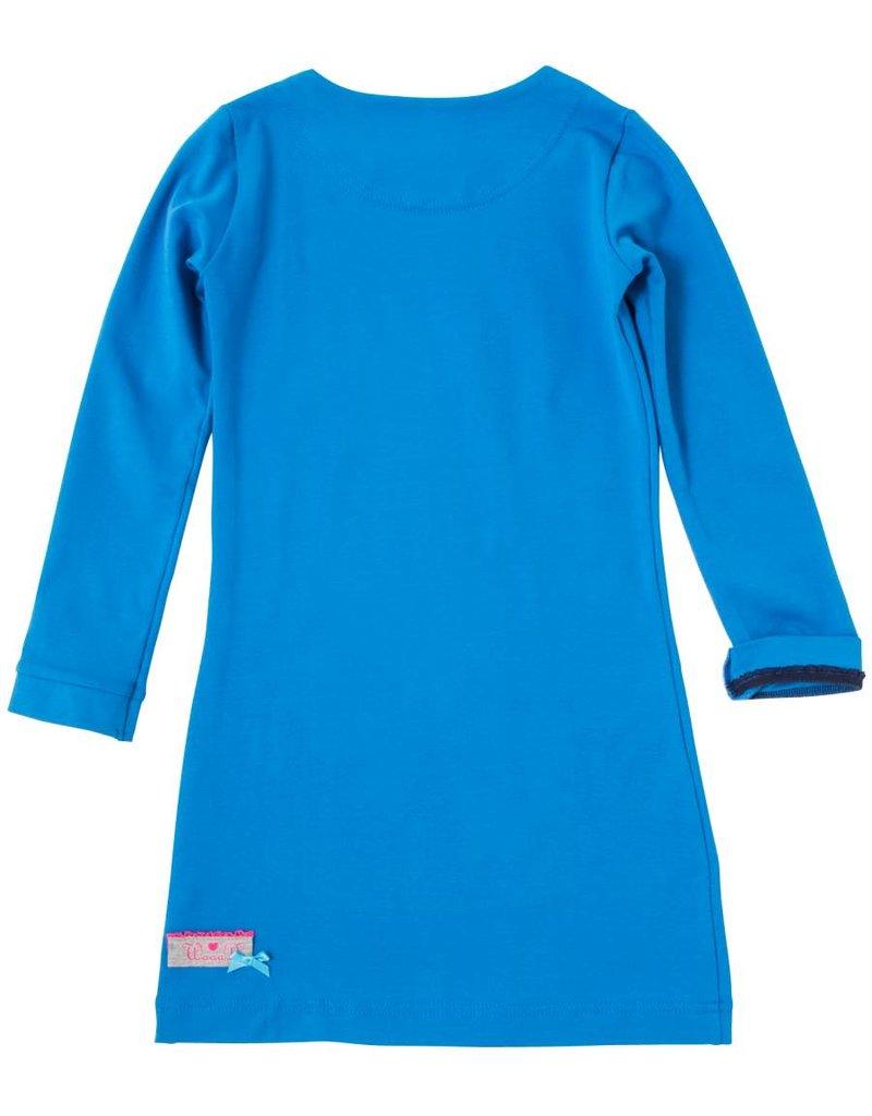 Jurk 'Basic' met lange mouw Blauw
