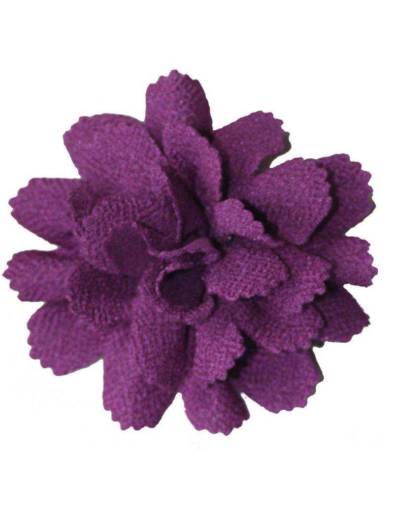 Drukkerapplicatie midi bloem paars