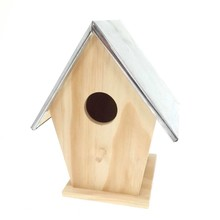 Cheap Birdhouse with zinc roof (size 155 x 115 x 193 mm)