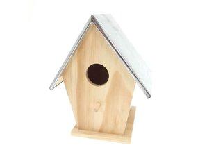 Goedkope houten Vogelhuisje met zinken dak kopen? Bij ons kunt u deze leuke goedkope houten Vogelhuisje met zinken dak kopen en direct online bestellen!