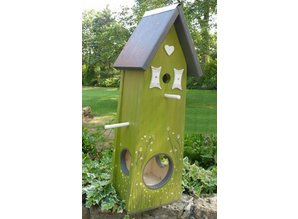 Handgemaakte en handgeschilderde Vogelvoederhuizen! Vogelvoederhuis Voorjaar