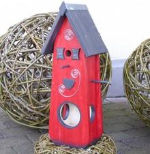 Handgemaakte en handgeschilderde Vogelvoederhuizen! Vogelvoederhuis Hartendief