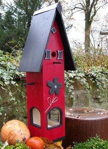 Handgemaakte en handgeschilderde Vogelvoederhuizen! Vogelvoederhuis Bloemendal