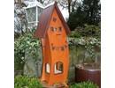 """Handgemaakte en handgeschilderde Vogelvoederhuizen! Vogelvoederhuis """"Good Feeling"""" (hoogte 74 cm, breedte 31 cm, diepte 20 cm)"""
