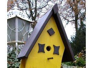 """Handgemaakte en handgeschilderde Vogelvoederhuizen! Hier kunt u Vogelvoederhuis """"Sunset"""" kopen!"""