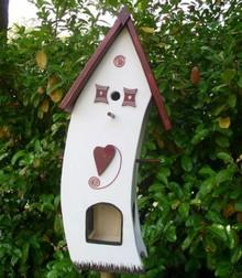 Handgemaakte en handgeschilderde Vogelvoederhuizen! Bird Feeder House Welcome