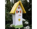 """Handgemaakte en handgeschilderde Vogelhuizen! Vogelhuis """"Zo Vrolijk"""" kopen?"""