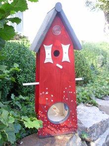 Handgemaakte en handgeschilderde Vogelvoederhuizen! Bird Feeder House Lunch Home