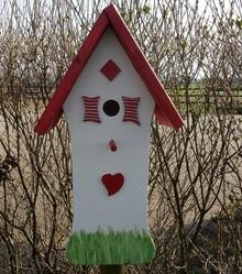 Handgemaakte en handgeschilderde Vogelhuizen! Bird House Comfortable