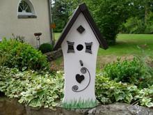 Handgemaakte en handgeschilderde Vogelhuizen! Birdhouse Spik and Span