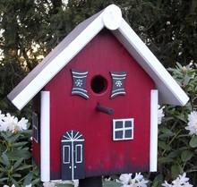 """Handgemaakte en handgeschilderde Vogelhuizen! Vogelhuis """"Holiday Inn"""" hand geschilderd en handgemaakt"""