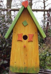 Handgemaakte en handgeschilderde Vogelhuizen! Vogelhuis Geluk