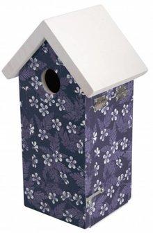 Birdhouse with Blue Blossom theme