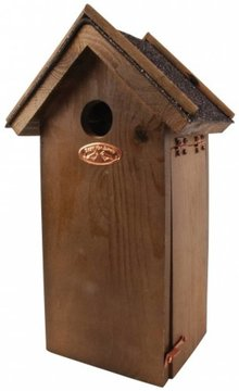 Brown wooden Birdhouses bitumen roof (suitable for the great tit)